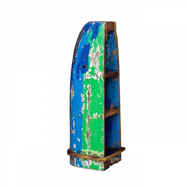 Стеллаж-лодка БэнксиСтеллажи<br>Стеллаж-лодка Бэнкси — это напольный стеллаж, выполненный из старой рыбацкой лодки изящной вытянутой формы с сохранением оригинальной многослойной окраски. Возраст лодки 15–20 лет. Предположительное место обитания — остров Ломбок (Южная Индонезия). Лодка изготовлена из массива дерева по традиционной народной технике дагаут (dugout), что означает «лодка, выдолбленная из ствола дерева».<br> <br> Стеллаж-лодка Бэнкси изготовлен из ценных твердых пород древесины (тик, махагон, суар), обладающих высок...<br><br>stock: 0<br>Высота: 122<br>Ширина: 40<br>Глубина: 40<br>Материал каркаса: Тик<br>Цвет каркаса: Разноцветный