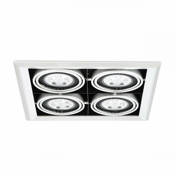 Встраиваемый потолочный светильник Grille Lamp 4Встраиваемые<br>Встраиваемый потолочный светильник Grille Lamp 4 — прекрасное решение XXI века для освещения пространства.<br><br><br><br><br> Чрезвычайно универсальной встраиваемый потолочный светильник Grille Lamp 4 может найти применение для любого помещения, включая современные столовые, кухни, гостиные, рестораны, залы.<br><br>stock: 30<br>Высота: 13,4<br>Ширина: 35,2<br>Длина: 35,2<br>Количество ламп: 24<br>Материал абажура: Алюминий<br>Материал арматуры: Металл<br>Мощность лампы: 3<br>Ламп в комплекте: Нет<br>Напряжение: 220<br>Тип лампы/цоколь: CREE LED<br>Цвет абажура: Черный