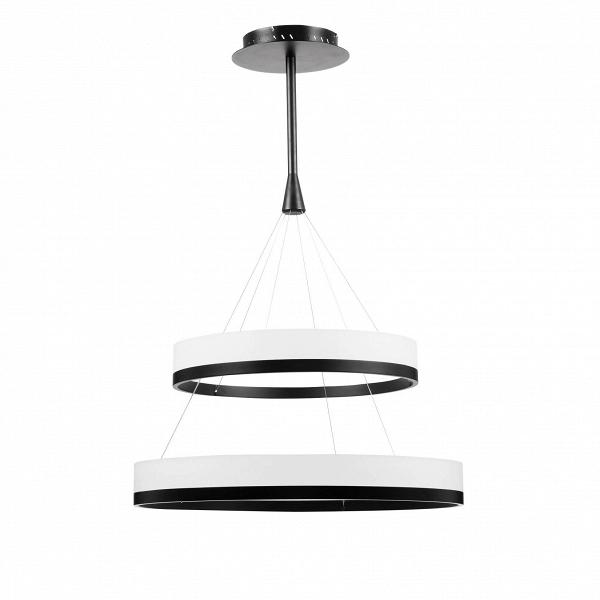 Подвесной светильник Double Circle диаметр 44Подвесные<br><br><br>stock: 0<br>Высота: 110<br>Диаметр: 80<br>Материал абажура: Алюминий<br>Мощность лампы: 34+44<br>Напряжение: 220-240<br>Теплота света: 3000<br>Тип лампы/цоколь: LED<br>Цвет абажура: Черный анодированный