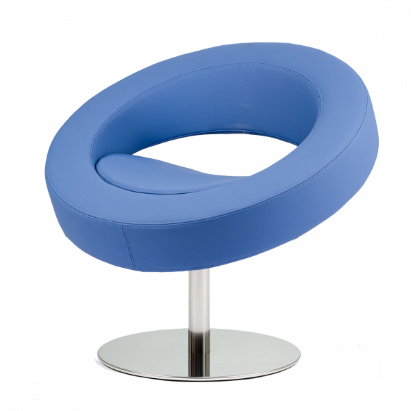 Кресло HelloИнтерьерные<br>Дизайнерское футуристичное круглое кресло Hello (Хеллоу) на узкой ножке цвета хром от Softline (Софтлайн).<br><br><br> Невероятное обаяние и характер. Кресло было заказано датской медиакорпорацией DR специально для Кайли Миноуг — харизматичной поп-дивы и удивительно жизнерадостного человека. Разработать облик необычного подарка взялся опытный дизайнер Флемминг Буск, создатель творческого дуэта и бренда Busk+Hertzog. Буск уже успешно сотрудничал сВSoftline, и в его послужном списке значился ...<br><br>stock: 2<br>Высота: 70<br>Высота сиденья: 40<br>Диаметр: 75<br>Материал обивки: Шерсть, Полиамид<br>Тип материала каркаса: Сталь нержавеющя<br>Коллекция ткани: Felt<br>Тип материала обивки: Ткань<br>Цвет обивки: Голубой<br>Цвет каркаса: Хром<br>Дизайнер: Busk + Hertzog