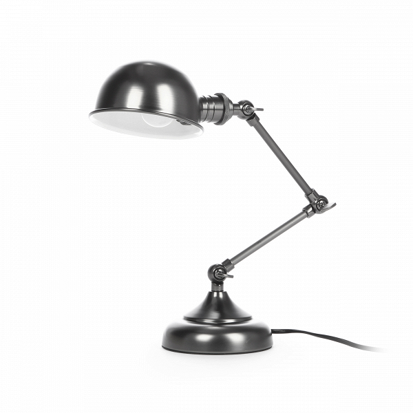 Настольный светильник MollyНастольные<br>Дизайнерский черно-серый настольный светильник Molly (Молли) в стиле лофт от Cosmo.<br><br><br> При оформлении домашнего интерьера в стиле лофт особое внимание нужноВуделять источнику освещения, который коренным образом может изменить всю атмосферу в комнате. Важно правильно подобрать цвет и дизайн, а для рабочего кабинета или письменного стола в детской комнате источник освещения играет особую роль. Настольный светильник Molly обладает универсальным дизайном, который, однако, четко говорит...<br><br>stock: 0<br>Высота: 56<br>Диаметр: 12.5<br>Количество ламп: 1<br>Материал абажура: Сталь<br>Ламп в комплекте: Нет<br>Тип лампы/цоколь: E14<br>Цвет абажура: Черно-серый<br>Цвет провода: Черный