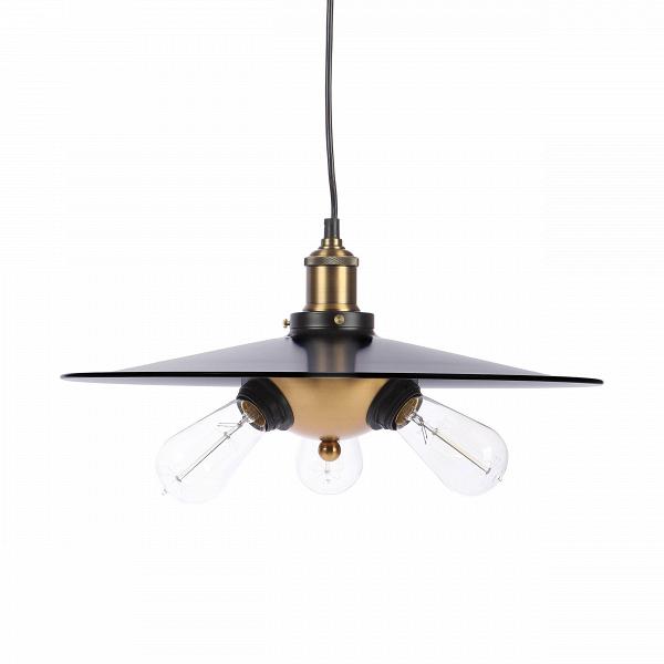 Подвесной светильник Visitor LightingПодвесные<br>Выбор подходящего освещения — это ответственный шаг в создании домашнего интерьера и уюта, ведь именно освещение создает ту неповторимую атмосферу, которая будет присуща именно вашему дому. Подвесной светильник Visitor Lighting — это минималистичное, лаконичное дизайнерское творение компании Cosmo, которое непременно порадует ценителей современных стилей в домашнем интерьере.<br><br><br> Абажур стильного подвесного светильника Visitor Lighting изготовлен из металла черного цвета. Имеется цокол...<br><br>stock: 26<br>Высота: 18<br>Диаметр: 44<br>Длина провода: 150<br>Количество ламп: 3<br>Материал абажура: Металл<br>Мощность лампы: 60<br>Ламп в комплекте: Нет<br>Тип лампы/цоколь: E27<br>Цвет абажура: Черный<br>Цвет провода: Черный