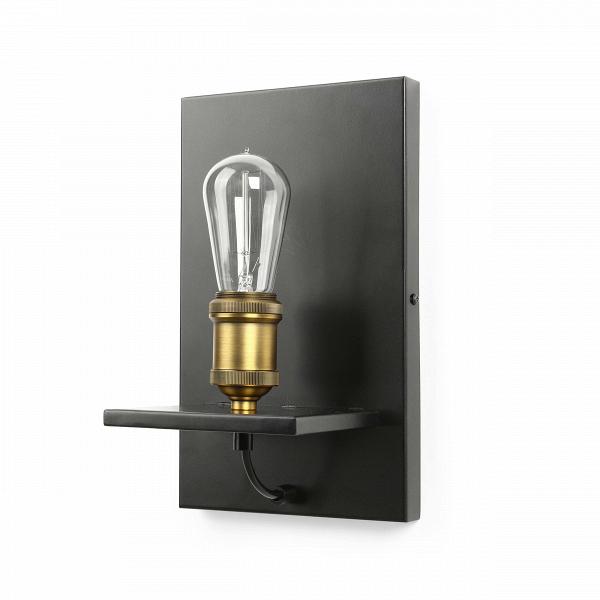 Настенный светильник MelroseНастенные<br>Настенный светильник Melrose — это оригинальная конструкция современного предмета освещения, которая напоминает полку с декором в виде сияющей лампочки. Светильник создан лучшими дизайнерами компании Cosmo, которые сделали его не просто стильным, но и подходящим практически для любого современного интерьера.<br><br><br> Основание и крепления настенного светильника Melrose изготовлены из металла черного цвета. Имеется цоколь для одной лампочки.<br><br><br> Данный светильник можно использовать практич...<br><br>stock: 22<br>Высота: 30<br>Ширина: 18<br>Длина: 15<br>Количество ламп: 1<br>Материал абажура: Металл<br>Мощность лампы: 60<br>Ламп в комплекте: Нет<br>Тип лампы/цоколь: E27<br>Цвет абажура: Черный