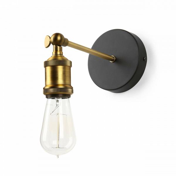 Настенный светильник KenroyНастенные<br>Настенный светильник Kenroy — это красивое, элегантное сочетание классической формы и индустриального стиля лофт, чей шарм давно полюбился многим ценителям современного дизайнерского искусства. Светильник имеет цвет антикварной латуни, а основание — черного матового цвета.<br><br><br> Держатель и крепление настенного светильника Kenroy изготовлены из металла. Имеется цоколь для одной лампочки.<br><br><br> Если вы находитесь в поиске нейтрального предмета освещения, который сможет легко и непринужден...<br><br>stock: 2<br>Высота: 12<br>Ширина: 18<br>Длина: 27<br>Количество ламп: 1<br>Материал абажура: Металл<br>Мощность лампы: 60<br>Ламп в комплекте: Нет<br>Тип лампы/цоколь: E27<br>Цвет абажура: Латунь антикварная