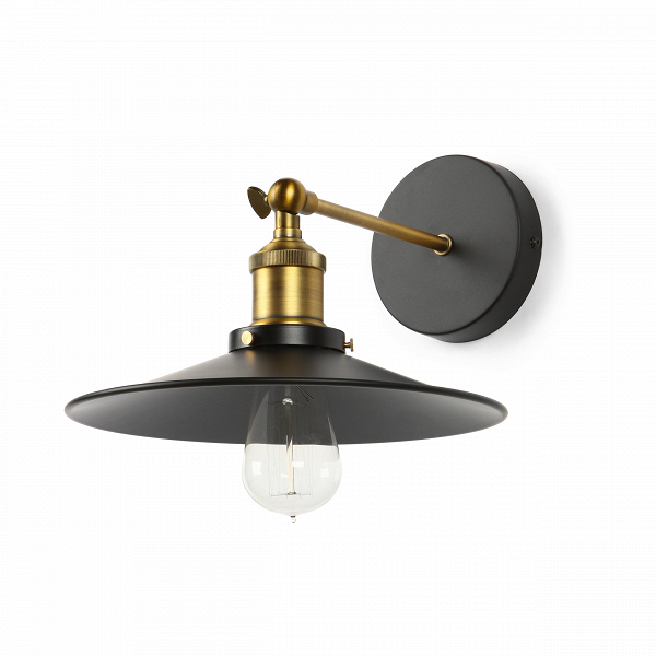 Настенный светильник Newbury LightingНастенные<br>Настенный светильник Newbury Lighting имеет простую лаконичную форму, отдаленно напоминающую традиционные черты классического стиля, однако сам светильник является ярким представителем стиля производственного — стиля лофт. Светильник имеет цвет антикварной латуни, что придает ему особый колорит и своеобразный шарм. <br><br><br> Корпус и крепления настенного светильника Newbury Lighting изготовлены из металла черного цвета и цвета антикварной латуни. Имеется цоколь для одной лампочки.<br><br><br> Дан...<br><br>stock: 0<br>Высота: 24.5<br>Ширина: 26<br>Длина: 28<br>Доп. цвет абажура: Черный<br>Количество ламп: 1<br>Материал абажура: Металл<br>Мощность лампы: 60<br>Ламп в комплекте: Нет<br>Тип лампы/цоколь: E27<br>Цвет абажура: Латунь антикварная
