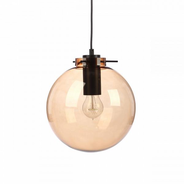 Подвесной светильник Sphere LightingПодвесные<br>Подвесной светильник Sphere Lighting — это замечательное сочетание простой лаконичной формы и приятного цвета полупрозрачного абажура. Светильник имеет геометрическую форму шара янтарного цвета, что будет особенно хорошо сочетаться с лампочками, дающими свет теплого тона. Арматура выполнена в черном цвете, весьма популярном в современном интерьере. Абажур подвесного светильника Sphere Lighting изготовлен из прочного стекла.<br><br><br> Данный светильник обладает замечательным свойством универса...<br><br>stock: 0<br>Высота: 36<br>Диаметр: 24<br>Длина провода: 150<br>Количество ламп: 1<br>Материал абажура: Стекло<br>Материал арматуры: Металл<br>Мощность лампы: 60<br>Ламп в комплекте: Нет<br>Тип лампы/цоколь: E27<br>Цвет абажура: Янтарь<br>Цвет арматуры: Черный матовый