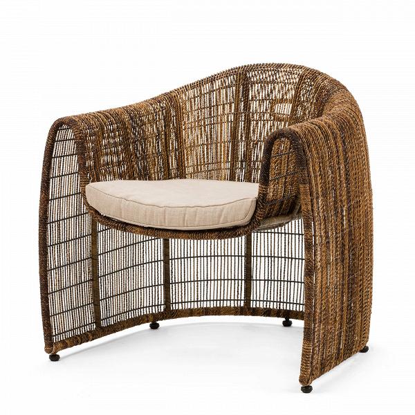 Кресло Lulu ClubУличная мебель<br>Дизайнерское плетеное кресло LULU CLUB (Лулу Клаб) из ротанга с мягким сиденьем от Kenneth Cobonpue (Кеннет Кобонпу)<br><br>Кеннет Кобонпу — известный во всем мире художник-конструктор из Себу, обладатель множества наград, креативный директор Hive. Кеннет Кобонпу начал поиск своего подхода к дизайну в 1987 году, изучая промышленный дизайн в Институте Пратта в Нью-Йорке, который он закончил с отличием и впоследствии работал в Италии и Германии. Несколько из его проектов были отобраны для престиж...<br><br>stock: 0<br>Высота: 80,5<br>Ширина: 84<br>Глубина: 78<br>Тип материала каркаса: Сталь нержавеющя<br>Материал сидения: Лен<br>Цвет сидения: Бежевый<br>Тип материала сидения: Ткань<br>Цвет каркаса: Коричневый<br>Дизайнер: Kenneth Cobonpue