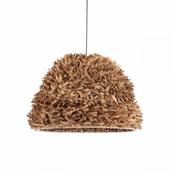 Подвесной светильник Water HyacinthПодвесные<br>Когда речь заходит о светильниках из дерева, невольно представляешь себе угловатый и массивный предмет, однако несущий в себе сильную энергетику. Наличие такого светильника в интерьере непременно сулит уют и тепло домашнего очага. Если рассматривать пример подвесного светильника Water Hyacinth, то отнюдь не кажется, что он громоздкий, напротив, он воздушный и легкий. Эффект достигнут благодаря обтекаемой форме и схеме расположения веточек гиацинта. Они наслоены таким образом, что образуют...<br><br>stock: 30<br>Высота: 43<br>Диаметр: 57.5<br>Количество ламп: 1<br>Материал абажура: Гиацинт<br>Материал арматуры: Металл<br>Мощность лампы: 40<br>Ламп в комплекте: Нет<br>Напряжение: 220-240<br>Тип лампы/цоколь: E27<br>Цвет абажура: Коричневый<br>Цвет арматуры: Черный<br>Цвет провода: Черный