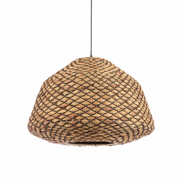 Подвесной светильник Hyacinth BasketПодвесные<br>С чего начинается интерьер в стиле эко? С натуральных материалов, текстиля в природных цветах, лаконичной мебели и минимум декора. Так выглядит классический экоинтерьер в глазах простого обывателя. Однако не стоит забывать о качестве, формах и размерах. Подбирая для себя красивый светильник, задержитесь хотя бы на мгновенье на данной модели — подвесном светильнике Hyacinth Basket. Довольно объемный по размерам и лаконичный в деталях светильник также порадует вас своим качеством. Сплетенны...<br><br>stock: 19<br>Высота: 46<br>Диаметр: 63<br>Количество ламп: 1<br>Материал абажура: Гиацинт<br>Материал арматуры: Металл<br>Мощность лампы: 40<br>Ламп в комплекте: Нет<br>Напряжение: 220-240<br>Тип лампы/цоколь: E27<br>Цвет абажура: Коричневый<br>Цвет арматуры: Черный<br>Цвет провода: Черный