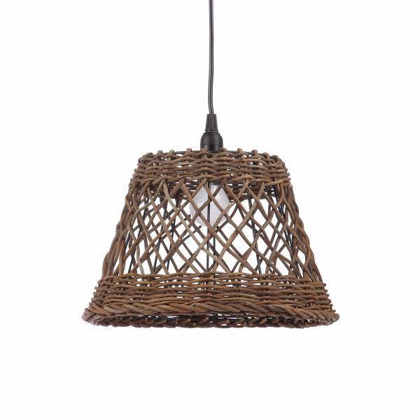 Подвесной светильник Rattan ConeПодвесные<br>Что сможет подарить вашему интерьеру уют лучше, чем плетеная мебель? Возможно, светильник! В то время как мебель из ротанга занимает много места, подвесной светильник Rattan Cone<br>не занимает его вовсе. Изделие привнесет в ваш дом теплую атмосферу, тепло домашнего очага и скрасит ваши вечера.<br><br><br> Ротанг — материал природного происхождения, представляющий собою очищенные и высушенные стебли каламуса, или ротанговой пальмы. Растения вобрали в себя весь зной тропического климата и сурово...<br><br>stock: 33<br>Высота: 26<br>Диаметр: 28<br>Количество ламп: 1<br>Материал абажура: Ротанг<br>Материал арматуры: Металл<br>Мощность лампы: 40<br>Ламп в комплекте: Нет<br>Напряжение: 220-240<br>Тип лампы/цоколь: E27<br>Цвет абажура: Темно-коричневый<br>Цвет арматуры: Черный<br>Цвет провода: Черный