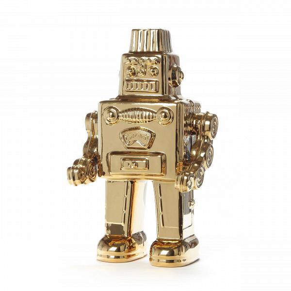 Статуэтка My RobotНастольные<br>Роботов обожают и дети, и взрослые. Одна из главных особенностей роботов – это их уникальность, каждый киборг обладает своей собственной неповторимой внешностью. Это привлекло дизайнеров к использованию их в качестве декоративного элемента в домашнем и общественном интерьере. Статуэтка My Robot представляет собой яркую модель, которая способна внести разнообразие в любую обстановку.<br><br><br> Изделие создается из фарфора. Несмотря на его относительную хрупкость, этот материал издавна любят м...<br><br>stock: 2<br>Высота: 30<br>Ширина: 12,4<br>Материал: Фарфор<br>Цвет: Золотой/Gold<br>Длина: 17,4