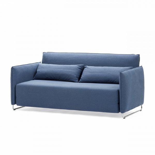Диван CordРаскладные<br>Дизайнерский темно-коричневый диван Dale (Дэйл) с обивкой из вискозы, полиэстера, льна и на деревянных ножках от Cosmo (Космо).<br> Дизайнеры компании Cosmo разработали диван с весьма универсальным дизайном, который сможет легко вписаться практически в любой интерьер. Диван Dale раскладной имеет приятные округлые формы и теплый, насыщенный темно-коричневый цвет. У дивана небольшие размеры, благодаря чему он станет замечательным украшением небольшого помещения и подарит вам прекрасный, наполнен...<br><br>stock: 0<br>Высота: 76<br>Высота сиденья: 38<br>Глубина: 96<br>Длина: 170<br>Цвет ножек: Хром<br>Материал обивки: Хлопок, Полиэстер<br>Коллекция ткани: Vision<br>Тип материала обивки: Ткань<br>Тип материала ножек: Сталь<br>Цвет обивки: Синий<br>Дизайнер: Busk + Hertzog