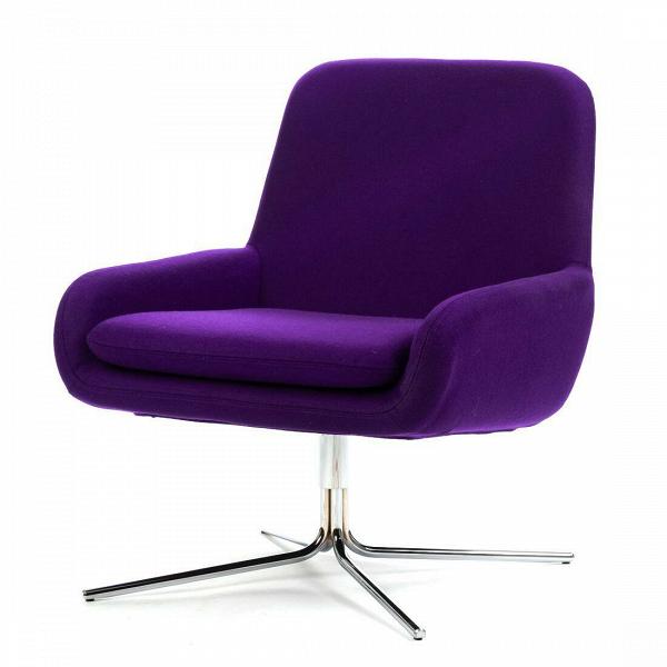 Кресло Coco SwivelИнтерьерные<br>Дизайнерское небольшое современное вращающееся кресло Coco Swivel (Коко Свивэл) из ткани на одной ножке от Softline (Софтлайн).<br><br>КреслоВCoco Swivel — красивое и смелое кресло с минималистским, но очень динамичным дизайном. Это результат сотрудничества между Флеммингом Буском и Стефаном Б.Херцогом, датским коллективом дизайнеров, известными своими наградами вВобласти дизайна мебели.<br><br><br><br> <br><br><br> Оригинальное креслоВCoco Swivel от компании Softline — это выбор для активных ...<br><br>stock: 0<br>Высота: 76<br>Высота сиденья: 40<br>Ширина: 65<br>Глубина: 73<br>Цвет ножек: Хром<br>Материал обивки: Шерсть, Полиамид<br>Коллекция ткани: Vilano<br>Тип материала обивки: Ткань<br>Тип материала ножек: Металл<br>Цвет обивки: Фиолетовый<br>Дизайнер: Busk + Hertzog