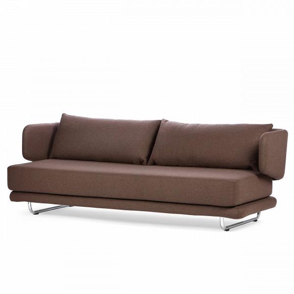 Диван JasperРаскладные<br>Дизайнерский однотонный раскладной диван-кровать Jasper (Джаспер) от Softline (Софтлайн)<br><br> Диван Jasper — это стильный иВпрактичный современный диван-кровать, идеально подходящий иВдля частных домов, иВдля общественных мест. Дизайн спинки позволяет вам сидеть вВ«углах» дивана, предлагая еще много способов расслабиться. Диван легко трансформируется вВудобную кровать для двух взрослых.<br><br><br><br><br><br>  Оригинальный диван Jasper выполнен по дизайну датского дуэта Флеммин...<br><br>stock: 0<br>Высота: 72<br>Высота сиденья: 39<br>Глубина: 83<br>Длина: 212<br>Цвет ножек: Хром<br>Материал обивки: Шерсть, Полиамид<br>Коллекция ткани: Felt<br>Тип материала обивки: Ткань<br>Тип материала ножек: Сталь<br>Цвет обивки: Коричневый<br>Дизайнер: Busk + Hertzog
