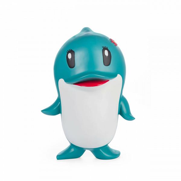 Статуэтка DolphinНастольные<br>Дизайнерская декоративная разноцветная статуэтка игрушечного дельфина Dolphin (Дельфин) из полистоуна от Cosmo (Космо).<br><br><br> В каждом доме определенно найдется место для такой излучающей радость и жизнелюбие статуэтки, как этот дельфин, выполненный в несколько мультипликационном стиле.<br><br><br> Несмотря на определенную «игрушечность» статуэток, обусловленную их стилистикой, не стоит забывать и о том, что дельфин — это многогранный и всегда положительный символ. Так, в христианстве он связан...<br><br>stock: 15<br>Высота: 49<br>Ширина: 32<br>Материал: Полистоун<br>Цвет: Разноцветный/Colorful<br>Диаметр: 32
