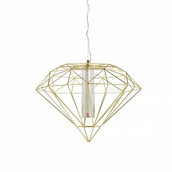 Подвесной светильник Polyhedra диаметр 60Подвесные<br>Как и некогда серебряная клетка с экзотической птицей, подвешенная под потолком, эта лампа сразу же превращает просто интерьер в артистический и освежает его. Здесь свет работает на контрасте с помещением, особенно если оно правильной формы и декорировано в классическом стиле. В таком случае этот лаконичный и в то же время экстравагантный светильник станет смысловым центром комнаты, при этом визуально не перегружая ее.<br><br><br> Вдохновение создатели подвесного светильника Polyhedra диаметр ...<br><br>stock: 0<br>Высота: 180<br>Диаметр: 60<br>Материал абажура: Металл<br>Ламп в комплекте: Нет<br>Напряжение: 220<br>Тип лампы/цоколь: LED<br>Цвет абажура: Золотой
