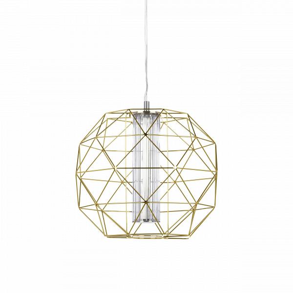 Подвесной светильник Diamond диаметр 40Подвесные<br>Подвесной светильник Diamond диаметр 40 по праву можно назвать бриллиантом для любого интерьера. Сейчас стиль хай-тек, в котором выполнена эта вещь, особенно актуален. Благодаря геометричности форм и прямым линиям светильник смотрится очень стильно.<br><br><br> Пожалуй, любая девушка, увидев эту дизайнерскую вещь, не устояла бы перед тем, чтобы украсить ею свой интерьер. Тем не менее нейтральный цвет делает светильник привлекательным не только для «женских» интерьеров, но и для любых гостиных, ...<br><br>stock: 0<br>Высота: 180<br>Диаметр: 40<br>Материал абажура: Металл<br>Ламп в комплекте: Нет<br>Напряжение: 220<br>Тип лампы/цоколь: LED<br>Цвет абажура: Золотой