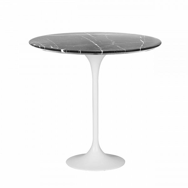 Кофейный стол Tulip с мраморной столешницей высота 52Кофейные столики<br>Дизайнерский кофейный круглый стол Tulip (Тулип) высота 52 с мраморной столешницей на одной ножке от Cosmo (Космо).<br><br><br> УВкаждого знаменитого дизайнера прошлого столетия есть своя «формула вечного дизайна», аВзначит, есть иВпроизведения дизайнерского искусства, которые уже много лет неВвыходят изВмоды, неВтеряют своей актуальности иВвостребованы поВсей день. Оригинальный стол Tulip как раз был разработан при помощи такой формулы, которую вывел Ээро...<br><br>stock: 8<br>Высота: 52,5<br>Диаметр: 52<br>Цвет ножек: Белый глянец<br>Цвет столешницы: Черный<br>Материал столешницы: Мрамор китайский<br>Тип материала столешницы: Мрамор<br>Тип материала ножек: Алюминий<br>Дизайнер: Eero Saarinen