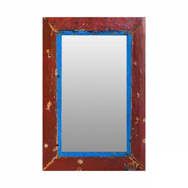 Зеркало Свет мой зеркальце высота 120Настенные<br>Зеркало Свет мой зеркальце высота 120 выполнено из массива древесины старого рыбацкого судна, такой как тик, махагон, суар, с сохранением оригинальной многослойной окраски. Древесина обладает высокой износостойкостью, долговечностью и водоотталкивающими свойствами. Ее использовали индонезийские рыбаки для создания лодок, а мебель из нее подходит для использования как внутри помещения, так и снаружи. Покрыто натуральным шеллаком.<br><br><br> Зеркало Свет мой зеркальце высота 120 сделано из частей...<br><br>stock: 0<br>Высота: 120<br>Ширина: 80<br>Глубина: 4<br>Материал: Тик<br>Цвет: Разноцветный