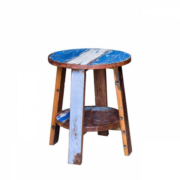 Табурет ГандиТабуреты<br>Табурет Ганди выполнен из массива древесины старого рыбацкого судна, такой как тик, махагон, суар, с сохранением оригинальной многослойной окраски. Древесина обладает высокой износостойкостью, долговечностью и водоотталкивающими свойствами. Ее использовали индонезийские рыбаки для создания лодок, а мебель из нее подходит для использования как внутри помещения, так и снаружи. Покрыт натуральным шеллаком.<br><br><br> Табурет Ганди сделан из частей традиционной рыбацкой лодки типа джукунг (jukung),...<br><br>stock: 0<br>Высота: 55<br>Диаметр: 45<br>Материал каркаса: Массив тика<br>Тип материала каркаса: Дерево<br>Цвет каркаса: Разноцветный