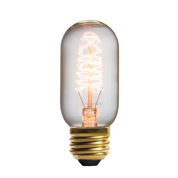 Винтажная лампа Эдисон Radios Squirrel Сage (Т45) 24 нитиРетролампочки<br>Уникальность винтажной лампы Эдисон Radios Squirrel Сage (Т45) 24 нити заключается в том, что стиль, в котором она выполнена, отлично сочетается с самыми разнообразными дизайнерскими решениями. Прежде всего, лампа является функциональным предметом интерьера, а уже во вторую очередь аксессуаром. <br><br><br>Купить винтажную лампу определенно стоит, чтобы привнести изысканность и уникальность дизайну интерьера. А прочные материалы помогут обеспечить долговечность ваших задумок.<br><br>stock: 792<br>Длина: 10,7<br>Материал абажура: Стекло<br>Мощность лампы: 40W<br>Ламп в комплекте: Нет<br>Напряжение: 220<br>Тип лампы/цоколь: E27<br>Цвет абажура: Прозрачный