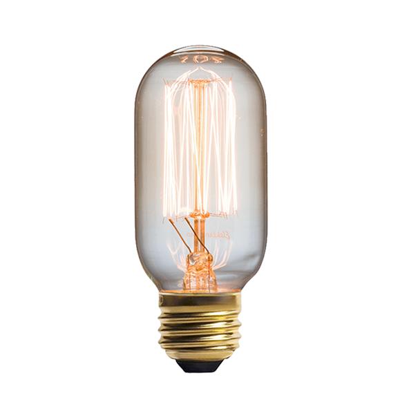 Винтажная лампа Эдисон Radios Squirrel Сage (Т45) 15 нитейРетролампочки<br>Дизайнерская винтажная лампа Эдисон Radios Squirrel Сage (Т45) 15 нитей — это одно из современных и стильных украшений в стиле ретро. Данная модель нитей станет актуальным элементом в вашем интерьере, а ультрамодный торшер — лучшим способом превратить любой интерьер из простого и скучного в необычный и оригинальный. <br><br><br>Купить винтажную лампу Эдисон Radios Squirrel Сage (Т45) 15 нитей очень просто, а покупка лампы в стиле стимпанка сделает любой интерьер современным и уникальным. Вариа...<br><br>stock: 1457<br>Длина: 10,7<br>Материал абажура: Стекло<br>Мощность лампы: 40W<br>Ламп в комплекте: Нет<br>Напряжение: 220<br>Тип лампы/цоколь: E27<br>Цвет абажура: Прозрачный