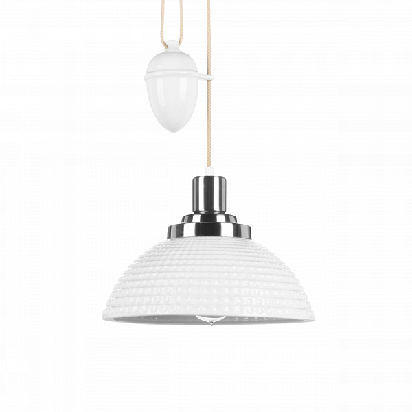Подвесной светильник FP538NПодвесные<br>Безукоризненный классический стиль этого светильника сочетается с легкими чертами современного дизайна, что придает светильнику совершенно необыкновенный вид. Металлическое основание и белоснежный цвет плафона создают ощущение легкости и стиля. Интересная конструкция противовеса также радует глаз и делает дизайнерский подвесной светильник Rise &amp; Fall<br>уникальным в своем роде.<br><br><br> Представленный подвесной светильник обладает не только великолепным дизайном, но и высокой функциональ...<br><br>stock: 0<br>Высота: 22,5<br>Диаметр: 30,5<br>Количество ламп: 1<br>Материал абажура: Костяной фарфор<br>Материал арматуры: Металл<br>Мощность лампы: 60<br>Напряжение: 230<br>Тип лампы/цоколь: E27<br>Цвет абажура: Белый текстурированный<br>Цвет арматуры: Хром
