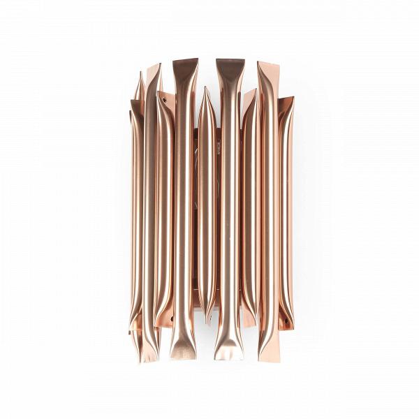 Настенный светильник MathenyНастенные<br>Настенный светильник Matheny был создан известными западными дизайнерами специально для украшения интерьеров в стиле лофт, брутализм, фьюжн и некоторых других. Светильник отличается минимальным количеством деталей и красивым медным цветом под старину. Изделие представляет собой расположенные по окружности, тесно прижатые друг к другу трубки, «спаянные» на концах.<br><br><br> Настенный светильник Matheny изготовлен из высококачественных материалов. Корпус его сделан из легкого и прочного алюминия...<br><br>stock: 0<br>Высота: 30<br>Ширина: 18<br>Длина: 12<br>Количество ламп: 1<br>Материал абажура: Алюминий<br>Материал арматуры: Сталь<br>Мощность лампы: 40<br>Ламп в комплекте: Нет<br>Напряжение: 220<br>Тип лампы/цоколь: E14<br>Цвет абажура: Медь старая