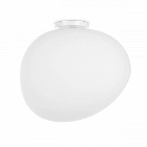 Потолочный светильник Air Bubble большойПотолочные<br>Минималистичный стиль и особая легкость — вот что отличает современные светильники в стиле минимализм, хай-тек и некоторых других. Ведущие западные дизайнеры создали светильник, который наверняка порадует многих любителей этих стилей. Потолочный светильник Air Bubble большой<br>(в переводе с английского air bubble — «воздушный пузырь») представляет собой легкую белоснежную форму, которая напоминает собой большой мыльный пузырь, выдуваемый из невидимого кольца.<br><br><br> Абажур потолочного све...<br><br>stock: 8<br>Высота: 40<br>Ширина: 39,7<br>Длина: 47<br>Количество ламп: 1<br>Материал абажура: Стекло<br>Материал арматуры: Сталь<br>Мощность лампы: 25<br>Ламп в комплекте: Нет<br>Напряжение: 220<br>Тип лампы/цоколь: E27<br>Цвет абажура: Белый<br>Цвет арматуры: Белый