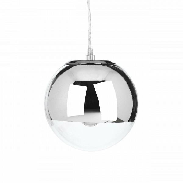 Подвесной светильник Mirror Ball диаметр 20Подвесные<br>Оригинальный и стильный — таким создали подвесной светильник Mirror Ball диаметр 20<br>ведущие западные дизайнеры. Светильник представляет собой небольшую сферу, наполовину прозрачную, наполовину хромированную, за счет чего достигается некий эффект сконцентрированного освещения. Кроме того, поверхность светильника обладает зеркальными свойствами.<br><br><br><br><br> Абажур подвесного светильника Mirror Ball диаметр 20<br>состоит наполовину из прозрачного стекла и наполовину из прочной стали. Такое с...<br><br>stock: 0<br>Диаметр: 20<br>Количество ламп: 1<br>Материал абажура: Стекло<br>Материал арматуры: Сталь<br>Мощность лампы: 40<br>Ламп в комплекте: Нет<br>Напряжение: 220<br>Тип лампы/цоколь: E27<br>Цвет абажура: Хром<br>Цвет арматуры: Хром<br>Дизайнер: Tom Dixon