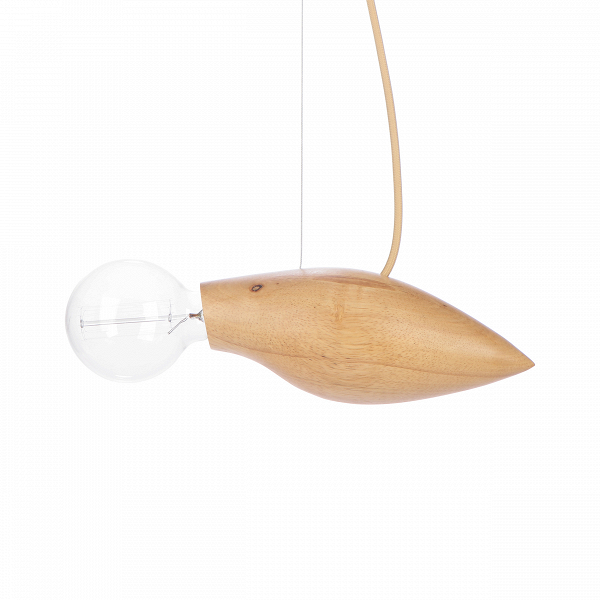 Подвесной светильник Squid длина 37,5Подвесные<br>Известный шведский дизайнер, выходец из Курдистана Джангир Маддади создал весьма оригинальный и интересный светильник, который непременно порадует ценителей и любителей нестандартных предметов домашнего освещения и декора. Подвесной светильник Squid длина 37,5<br>имеет очень небольшие размеры, а сочетание материалов позволяет вам использовать его в самых разных интерьерах, от стильного современного до более традиционных.<br><br><br> Светильник изготовлен из натуральной высококачественной древес...<br><br>stock: 8<br>Высота: 200<br>Ширина: 15<br>Длина: 37,5<br>Количество ламп: 1<br>Материал абажура: Дерево<br>Мощность лампы: 60<br>Ламп в комплекте: Нет<br>Напряжение: 220<br>Тип лампы/цоколь: E27<br>Цвет абажура: Бежевый<br>Цвет провода: Бежевый