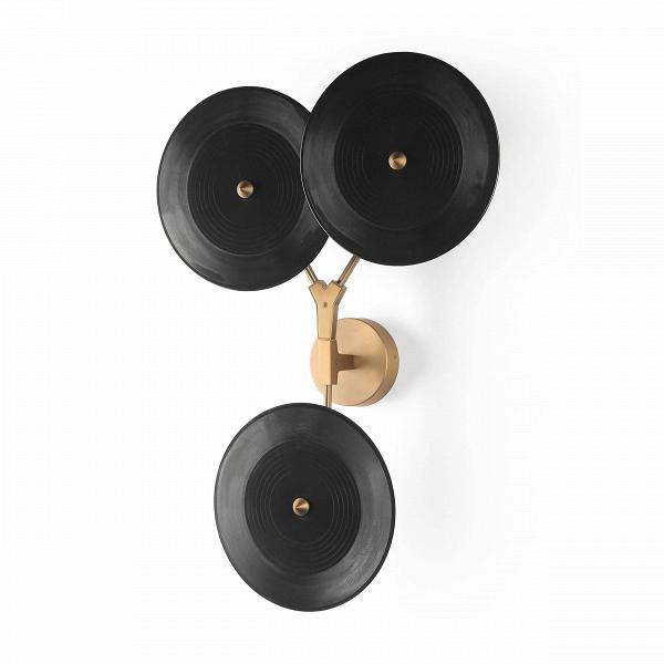Настенный светильник Branching DiscsНастенные<br>Популярнейший дизайнер, известный своим особенным почерком в создании предметов освещения, Линдси Адельман создала необычайно интересное и красивое изделие — настенный светильник Branching Discs, который способен легко вписаться в любой интерьер, оформленный в современном стиле. Правильный источник освещения необычайно важен для положительного восприятия всей обстановки комнаты, и Branching Discs — это отличное решение для гармоничного дополнительного освещения любого типа помещений.<br><br><br>...<br><br>stock: 4<br>Высота: 80<br>Ширина: 18<br>Длина: 52<br>Количество ламп: 3<br>Материал абажура: Акрил<br>Материал арматуры: Сталь<br>Мощность лампы: 3<br>Ламп в комплекте: Нет<br>Напряжение: 220<br>Тип лампы/цоколь: LED<br>Цвет абажура: Черный<br>Цвет арматуры: Медь античная<br>Дизайнер: Lindsey Adams Adelman