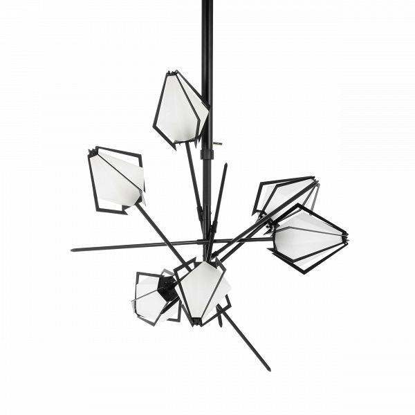 Подвесной светильник Cotton BollsПодвесные<br>Работы популярных канадских братьев-дизайнеров известны во всем мире. Гэбриел Какон и Скотт Ричлер, больше известные миру как Гэбриел Скотт (Gabriel Scott), создают необычайно красивые и элегантные изделия. Дизайнеры известны своим уникальным, неповторимым стилем, который сочетает в себе современные, едва уловимые черты индустриального стиля и элегантные и изящные формы и линии. Таков и подвесной светильник Cotton Bolls.<br><br><br> Плафоны светильника изготовлены из прочного стекла. «Ограненн...<br><br>stock: 5<br>Высота: 108<br>Ширина: 110,5<br>Длина: 98,5<br>Количество ламп: 6<br>Материал абажура: Стекло<br>Материал арматуры: Сталь<br>Мощность лампы: 40<br>Ламп в комплекте: Нет<br>Напряжение: 220<br>Тип лампы/цоколь: E14<br>Цвет абажура: Белый<br>Цвет арматуры: Черный