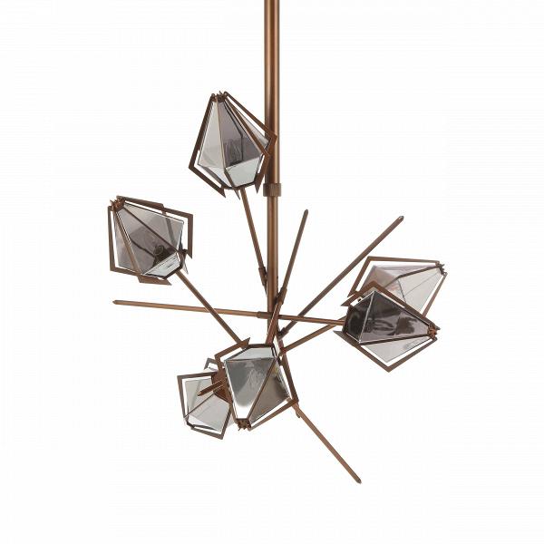 Подвесной светильник Cotton BollsПодвесные<br>Работы популярных канадских братьев-дизайнеров известны во всем мире. Гэбриел Какон и Скотт Ричлер, больше известные миру как Гэбриел Скотт (Gabriel Scott), создают необычайно красивые и элегантные изделия. Дизайнеры известны своим уникальным, неповторимым стилем, который сочетает в себе современные, едва уловимые черты индустриального стиля и элегантные и изящные формы и линии. Таков и подвесной светильник Cotton Bolls.<br><br><br> Плафоны светильника изготовлены из прочного стекла. «Ограненн...<br><br>stock: 4<br>Высота: 108<br>Ширина: 110,5<br>Длина: 98,5<br>Количество ламп: 6<br>Материал абажура: Стекло<br>Материал арматуры: Сталь<br>Мощность лампы: 40<br>Ламп в комплекте: Нет<br>Напряжение: 220<br>Тип лампы/цоколь: E14<br>Цвет абажура: Дымчато-серый<br>Цвет арматуры: Бронза красная матовая