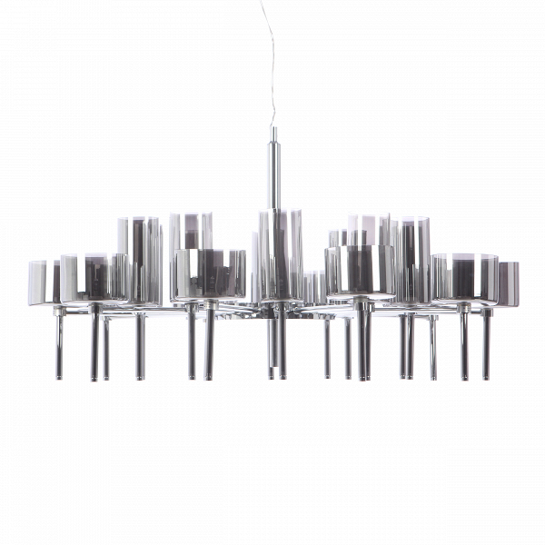 Подвесной светильник Clinking of GlassesПодвесные<br>При создании красивого и уютного интерьера важно принимать во внимание любую мелочь, а выбор основного источника освещения — это сложный и интересный процесс, ведь именно освещение будет задавать настроение и атмосферу всего помещения. Подвесной светильник Clinking of Glasses — это необычайно красивое и в то же время нейтральное по своему дизайну изделие. Его великолепная композиция и светлый легкий цвет сделают ваш интерьер интереснее и визуально увеличат общее пространство комнаты.<br><br><br>...<br><br>stock: 0<br>Высота: 250<br>Диаметр: 108<br>Количество ламп: 20<br>Материал абажура: Стекло<br>Материал арматуры: Сталь<br>Мощность лампы: 10<br>Ламп в комплекте: Нет<br>Напряжение: 220<br>Тип лампы/цоколь: G4<br>Цвет абажура: Дымчато-серый<br>Цвет арматуры: Хром