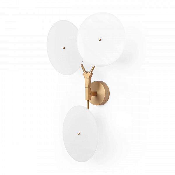 Настенный светильник Branching DiscsНастенные<br>Популярнейший дизайнер, известный своим особенным почерком в создании предметов освещения, Линдси Адельман создала необычайно интересное и красивое изделие — настенный светильник Branching Discs, который способен легко вписаться в любой интерьер, оформленный в современном стиле. Правильный источник освещения необычайно важен для положительного восприятия всей обстановки комнаты, и Branching Discs — это отличное решение для гармоничного дополнительного освещения любого типа помещений.<br><br><br>...<br><br>stock: 0<br>Высота: 80<br>Ширина: 18<br>Длина: 52<br>Количество ламп: 3<br>Материал абажура: Акрил<br>Материал арматуры: Сталь<br>Мощность лампы: 3<br>Ламп в комплекте: Нет<br>Напряжение: 220<br>Тип лампы/цоколь: LED<br>Цвет абажура: Белый<br>Цвет арматуры: Медь античная<br>Дизайнер: Lindsey Adams Adelman