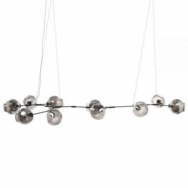 Подвесной светильник Branching Bubbles Summer 10 лампПодвесные<br>Вдохновленная красотой природных явлений, популярнейший американский дизайнер Линдси Адельман создала уникальное изделие, которое гармонично сочетает в себе черты индустриального прогресса и природные формы. Работы Адельман — это не просто осветительные приборы, но маленькие произведения искусства, которые завоевали себе заслуженную популярность и выставлялись во многих музеях, связанных с современным искусством дизайна.<br><br><br> Подвесной светильник Branching Bubbles Summer 10 ламп имеет де...<br><br>stock: 0<br>Высота: 40<br>Ширина: 145<br>Диаметр: 23<br>Длина: 348<br>Количество ламп: 10<br>Материал абажура: Стекло<br>Материал арматуры: Сталь<br>Мощность лампы: 40<br>Ламп в комплекте: Нет<br>Напряжение: 220<br>Тип лампы/цоколь: E27<br>Цвет абажура: Дымчато-серый<br>Цвет арматуры: Черный<br>Дизайнер: Lindsey Adams Adelman