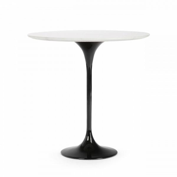 Кофейный стол Tulip с мраморной столешницей высота 52Кофейные столики<br>Дизайнерский кофейный круглый стол Tulip (Тулип) высота 52 с мраморной столешницей на одной ножке от Cosmo (Космо).<br><br><br> УВкаждого знаменитого дизайнера прошлого столетия есть своя «формула вечного дизайна», аВзначит, есть иВпроизведения дизайнерского искусства, которые уже много лет неВвыходят изВмоды, неВтеряют своей актуальности иВвостребованы поВсей день. Оригинальный стол Tulip как раз был разработан при помощи такой формулы, которую вывел Ээро...<br><br>stock: 0<br>Высота: 52,5<br>Диаметр: 52<br>Цвет ножек: Черный<br>Цвет столешницы: Белый<br>Материал столешницы: Мрамор китайский<br>Тип материала столешницы: Мрамор<br>Тип материала ножек: Алюминий<br>Дизайнер: Eero Saarinen