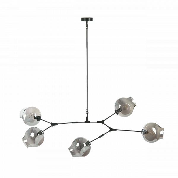 Подвесной светильник Branching Bubbles Summer 5 ламп высота 90Подвесные<br>Подвесной светильник Branching Bubbles Summer 5 ламп высота 90 — это стильное, современное изделие направления лофт, созданное известным американским дизайнером Линдси Адельман. Адельман известна своей особенной способностью сочетать в своих творениях современный индустриализм и плавность и естественность природных форм и явлений. Работы дизайнера выставлялись во многих известных музеях, таких как Национальный музей дизайна Купер-Хьюитт, Музей дизайна в Майами и многих других.<br><br><br> Плафо...<br><br>stock: 1<br>Высота: 90<br>Ширина: 60<br>Диаметр: 23<br>Длина: 163<br>Количество ламп: 5<br>Материал абажура: Стекло<br>Материал арматуры: Сталь<br>Мощность лампы: 40<br>Ламп в комплекте: Нет<br>Напряжение: 220<br>Тип лампы/цоколь: E27<br>Цвет абажура: Дымчато-серый<br>Цвет арматуры: Черный<br>Дизайнер: Lindsey Adams Adelman