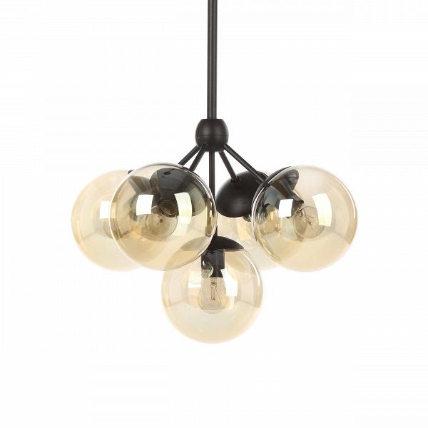Подвесной светильник FirefliesПодвесные<br>Подвесной светильник Fireflies — это привлекательное творение известных западных дизайнеров, которое напоминает маленькую стайку светлячков. Светильник представляет конструкцию из нескольких шарообразных плафонов, которые соединены между собой стальными креплениями.<br><br><br> Плафоны изделия изготовлены из прочного стекла красивого коньячного оттенка. Крепления и держатель сделаны из качественной стали черного матового цвета. Светильник оснащен пятью цоколями для лампочек.<br><br><br> Подвесной све...<br><br>stock: 1<br>Высота: 108<br>Диаметр: 49<br>Количество ламп: 5<br>Материал абажура: Стекло<br>Материал арматуры: Сталь<br>Мощность лампы: 10<br>Ламп в комплекте: Нет<br>Напряжение: 220<br>Тип лампы/цоколь: E27<br>Цвет абажура: Коньячный<br>Цвет арматуры: Черный