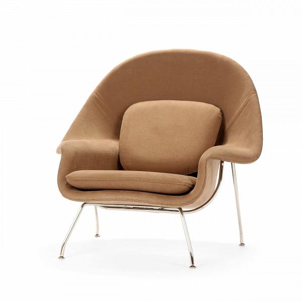 Кресло WombИнтерьерные<br>Дизайнерское интерьерное кресло Womb (Вумб) с округлой спинкой на металлических ножках от Cosmo (Космо).<br><br>stock: 0<br>Высота: 90,5<br>Высота сиденья: 38<br>Ширина: 97<br>Глубина: 81<br>Материал обивки: Хлопок, Лен<br>Тип материала каркаса: Сталь нержавеющя<br>Коллекция ткани: Ray Fabric<br>Тип материала обивки: Ткань<br>Цвет обивки: Светло-коричневый<br>Цвет каркаса: Хром