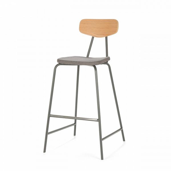 Барный стул PavesinoБарные<br>Высокий, необычайно удобный барный стул Pavesino — это настоящая находка для ценителей высокого качества и удобства домашней мебели. Это дизайнерское изделие отличается лаконичным оформлением и сдержанной цветовой гаммой, выраженной в классическом сочетании дерева и темной обивки. Благодаря наличию удобной спинки вы сможете расслабиться и насладиться комфортным отдыхом.<br><br><br> Спинка стула изготовлена из благородной породы дерева — американского белого дуба — и обладает естественным древе...<br><br>stock: 0<br>Высота: 105<br>Высота сиденья: 76.5<br>Ширина: 55<br>Глубина: 55<br>Цвет ножек: Темно-серый матовый<br>Цвет спинки: Дуб<br>Материал спинки: Фанера, шпон дуба<br>Материал сидения: Полиэстер<br>Цвет сидения: Графит<br>Тип материала спинки: Дерево<br>Тип материала сидения: Ткань<br>Коллекция ткани: Gabriel Fabric<br>Тип материала ножек: Сталь<br>Дизайнер: Sean Dix