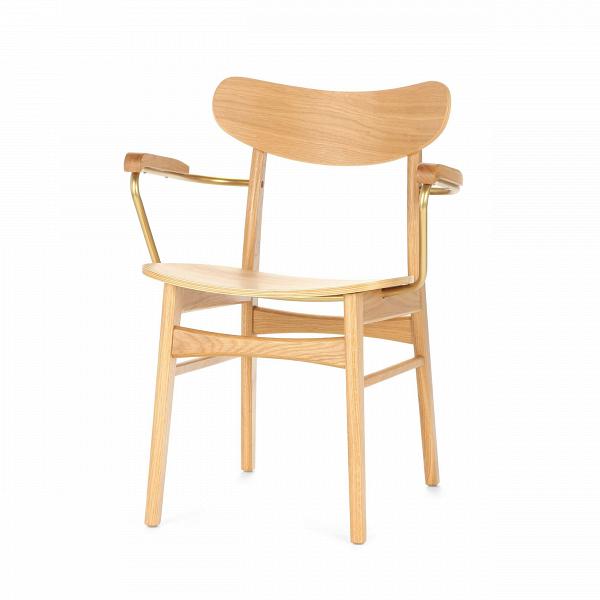 Стул Dutch 1 ArmИнтерьерные<br>Вы когда-нибудь задумывались о том, насколько важной частью интерьера является правильно подобранный стул? Это изделие способно кардинально изменить всю комнатную обстановку и перераспределить стилевые акценты в готовом дизайне. Стул Dutch 1 Arm сделает это наиболее гармонично и легко. Он обладает очень простым, но красивым дизайном, который способен легко влиться в окружающую обстановку и стать функциональной частью всего помещения.<br><br> Отдельно стоит отметить первоклассные материалы, соста...<br><br>stock: 5<br>Высота: 79,5<br>Высота сиденья: 45.2<br>Ширина: 59,5<br>Глубина: 53,5<br>Цвет подлокотников: Медь<br>Материал каркаса: Массив дуба<br>Материал подлокотников: Сталь<br>Тип материала каркаса: Дерево<br>Материал сидения: Фанера, шпон дуба<br>Цвет сидения: Белый дуб<br>Тип материала сидения: Дерево<br>Цвет каркаса: Белый дуб