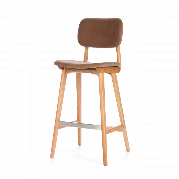 Барный стул Civil 2Барные<br>Простой дизайн и комфорт, стиль и изящество элитного дерева — все это сочетается в представленном здесь барном стуле Civil 2. Этот стул будет прекрасно смотреться не только в офисе или кабинете, но также подойдет и в квартиру. Благодаря двум вариантам обивки, имеющимся в наличии, вы сможете подобрать стул, который подойдет именно вашему интерьеру.<br><br><br> В качестве основного материала для изготовления этих стульев используется высококачественная, невероятно прочная древесина американского...<br><br>stock: 17<br>Высота: 100<br>Высота сиденья: 76<br>Ширина: 45<br>Глубина: 54,5<br>Материал каркаса: Массив дуба<br>Тип материала каркаса: Дерево<br>Материал сидения: Хлопок, Лен<br>Цвет сидения: Коричневый<br>Тип материала сидения: Ткань<br>Коллекция ткани: Ray Fabric<br>Цвет каркаса: Белый дуб