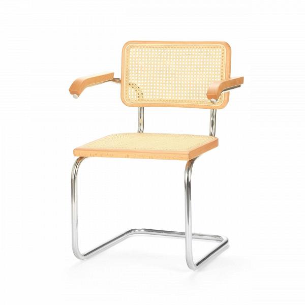 Стул Costa с подлокотникамиИнтерьерные<br>Качественные удобные стулья нужны не только на кухне или в столовой комнате. Они также занимают важное место в обстановке жилых комнат, рабочих кабинетов и даже детских. В данном случае дизайнеры стула Costa предусмотрели для этого предмета мебели очень важную деталь — удобные подлокотники, благодаря которым вы сможете устроиться с максимальным комфортом.<br><br><br> Каркас стула изготовлен из прочной стали цвета хром. Фанерная обивка стула — красивого натурального цвета ротанга. Благодаря особо...<br><br>stock: 10<br>Высота: 82<br>Высота сиденья: 45,5<br>Ширина: 61<br>Глубина: 54,5<br>Тип материала каркаса: Сталь нержавеющя<br>Материал сидения: Фанера, шпон бука<br>Цвет сидения: Светло-коричневый<br>Тип материала сидения: Дерево<br>Цвет каркаса: Хром