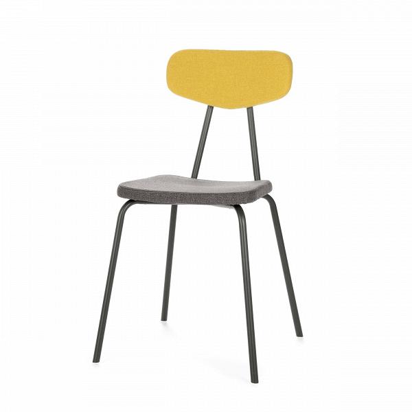 Стул Pavesino 2Интерьерные<br>Простой, классической формы стул Pavesino 2 словно создан дополнять уже готовый интерьер, оттенять его своими строгими, элегантными линиями и формой. Это добротный, универсальный стул, который благодаря отсутствию излишних деталей и декора легко впишется практически в любой тип помещения. Однако итальянский дизайнер Сильвия Марлия все же придала ему свою особенную изюминку — стул обладает очень красивым сочетанием цветов и материалов.<br><br><br> Каркас стула изготовлен из прочной стали темног...<br><br>stock: 18<br>Высота: 82<br>Высота сиденья: 47<br>Ширина: 46,5<br>Глубина: 57<br>Цвет спинки: Желтый<br>Материал спинки: Полиэстер<br>Тип материала каркаса: Сталь<br>Материал сидения: Полиэстер<br>Цвет сидения: Графит<br>Тип материала спинки: Ткань<br>Тип материала сидения: Ткань<br>Коллекция ткани: Gabriel Fabric<br>Цвет каркаса: Темно-серый матовый