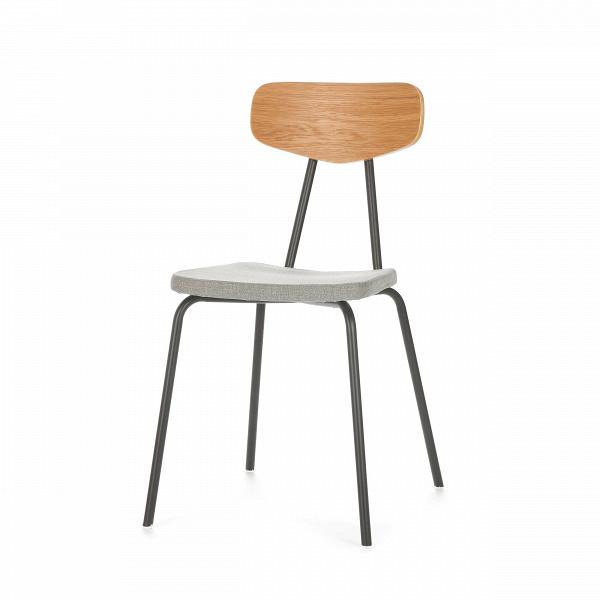 Стул Pavesino 1Интерьерные<br>Простой, классической формы стул Pavesino 1 словно создан дополнять уже готовый интерьер, оттенять его своими строгими, элегантными линиями и формой. Это добротный, универсальный стул, который благодаря отсутствию излишних деталей и декора легко впишется практически в любой тип помещения. Однако итальянский дизайнер Сильвия Марлия все же придала ему свою особенную изюминку — стул обладает очень красивым сочетанием цветов и материалов.<br><br><br><br><br> Каркас стула изготовлен из прочной стали...<br><br>stock: 15<br>Высота: 80.7<br>Высота сиденья: 47<br>Ширина: 46,5<br>Глубина: 57<br>Цвет спинки: Белый дуб<br>Материал спинки: Фанера, шпон дуба<br>Тип материала каркаса: Сталь<br>Материал сидения: Полиэстер<br>Цвет сидения: Серый<br>Тип материала спинки: Дерево<br>Тип материала сидения: Ткань<br>Коллекция ткани: Gabriel Fabric<br>Цвет каркаса: Темно-серый матовый<br>Дизайнер: Sean Dix