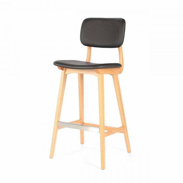 Барный стул Civil 2Барные<br>Простой дизайн и комфорт, стиль и изящество элитного дерева — все это сочетается в представленном здесь барном стуле Civil 2. Этот стул будет прекрасно смотреться не только в офисе или кабинете, но также подойдет и в квартиру. Благодаря двум вариантам обивки, имеющимся в наличии, вы сможете подобрать стул, который подойдет именно вашему интерьеру.<br><br><br> В качестве основного материала для изготовления этих стульев используется высококачественная, невероятно прочная древесина американского...<br><br>stock: 20<br>Высота: 100<br>Высота сиденья: 76<br>Ширина: 45<br>Глубина: 54,5<br>Материал каркаса: Массив бука<br>Тип материала каркаса: Дерево<br>Материал сидения: Полиуретан<br>Цвет сидения: Черный<br>Тип материала сидения: Кожа искусственная<br>Коллекция ткани: Premium Grade PU<br>Цвет каркаса: Светло-коричневый