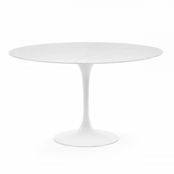 Обеденный стол Tulip диаметр 122Обеденные<br>Дизайнерская глянцевый белый обеденный стол Tulip (Тулип) овальный на одной ножке с мраморной столещницей от Cosmo (Космо).У каждого знаменитого дизайнера прошлого столетия есть своя «формула вечного дизайна», а значит, есть и произведения дизайнерского искусства, которые уже много лет не выходят из моды, не теряют своей актуальности и востребованы по сей день. Стол Tulip как раз был разработан при помощи такой формулы, которую вывел Ээро Сааринен. Изящная ножка-тюльпан и круглая столешница, ...<br><br>stock: 0<br>Высота: 72<br>Диаметр: 122<br>Цвет ножек: Белый глянец<br>Цвет столешницы: Желтый<br>Материал столешницы: Мрамор китайский<br>Тип материала столешницы: Мрамор<br>Тип материала ножек: Алюминий<br>Дизайнер: Eero Saarinen