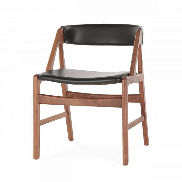 Стул DagaИнтерьерные<br>Дизайнерский легкий стул Daga (Дага) из массива ореха с кожаной обивкой сиденья и спинки от Cosmo (Космо).<br><br><br> Большинство стульев и табуретов могут использоваться в различных видах помещений, от офисной обстановки до теплой и уютной кухонной атмосферы. Таков и стул Daga, выполненный в строгом классическом стиле.<br><br><br> Лаконичность и роскошь — именно эти слова отлично характеризуют стул Daga. Оригинальный широкий каркас из американского ореха, известного своей прочностью и роскошным тем...<br><br>stock: 0<br>Высота: 72,5<br>Высота сиденья: 45<br>Ширина: 53<br>Глубина: 51,5<br>Материал каркаса: Массив ореха<br>Тип материала каркаса: Дерево<br>Цвет сидения: Черный<br>Тип материала сидения: Кожа<br>Коллекция ткани: Harry Leather<br>Цвет каркаса: Орех